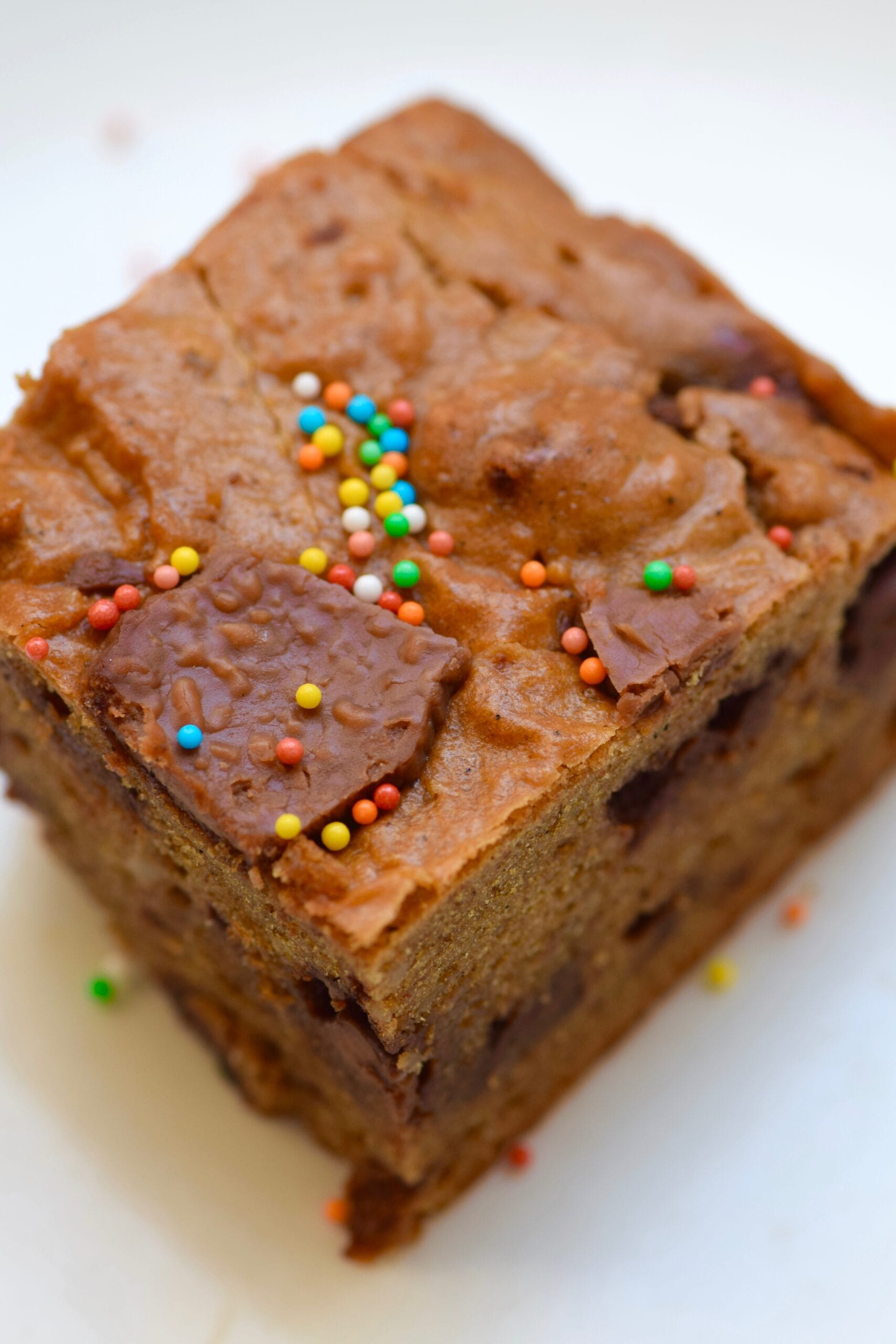Low Carb Protein Cookie Dough Bread  with sprinkles
