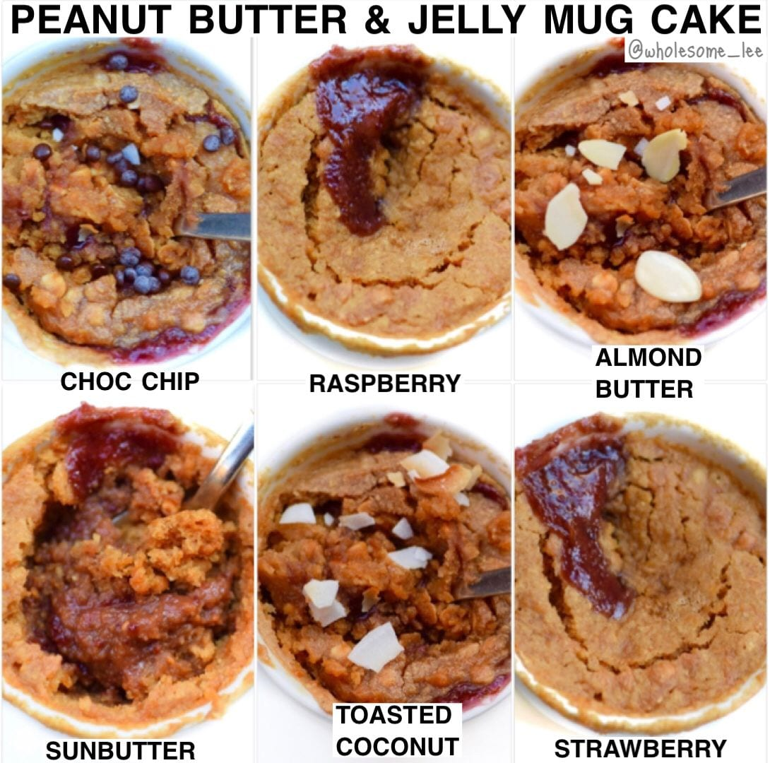 Peanut butter and Jelly Mug Cake