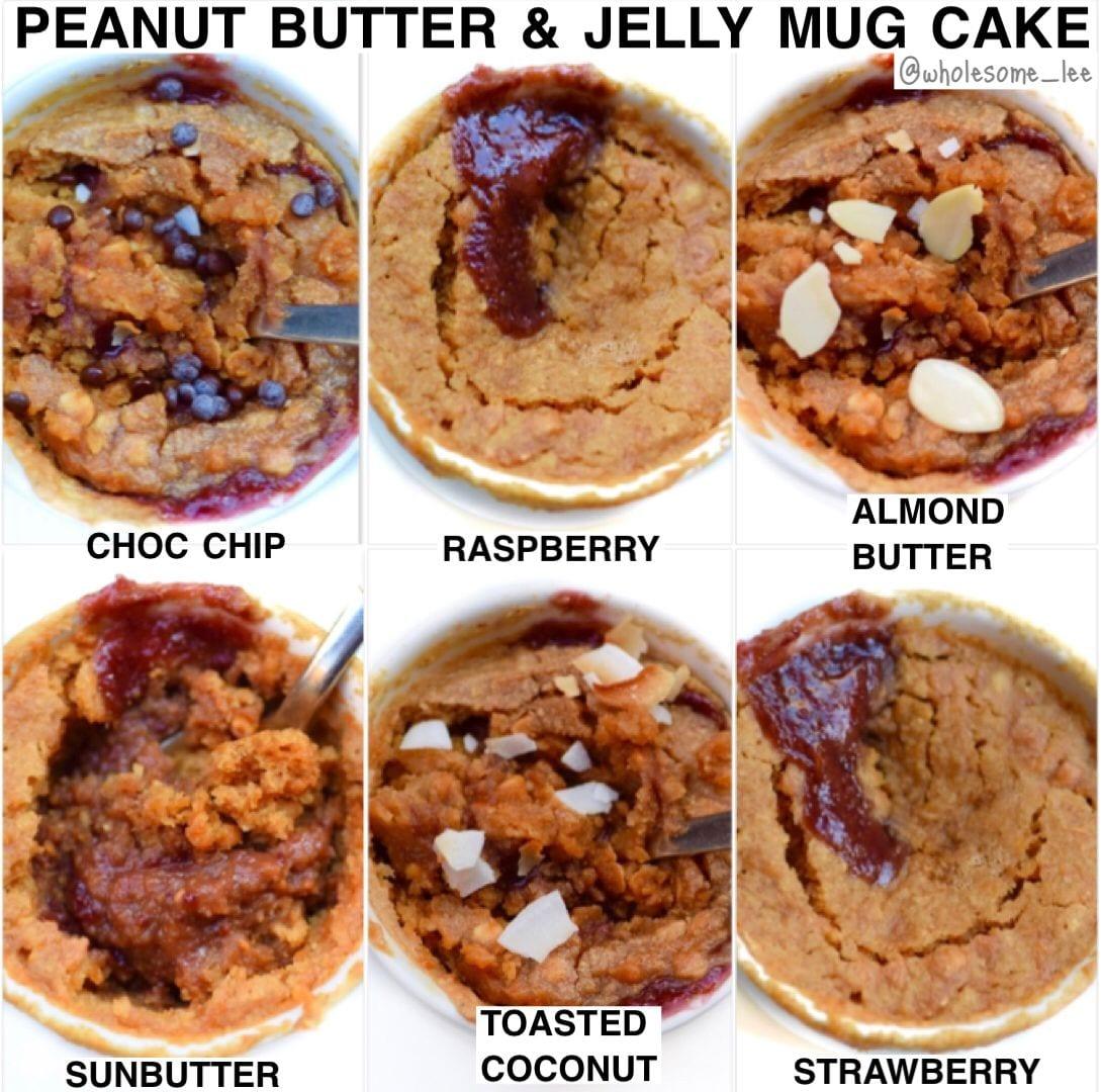 Peanut butter and Jelly Mug Cake