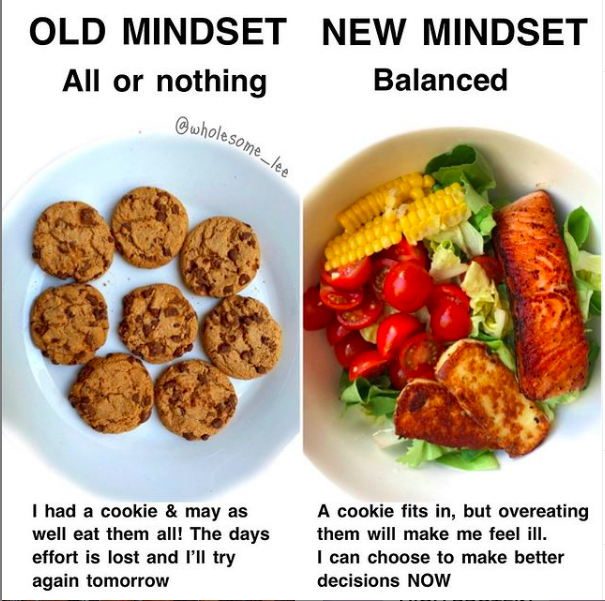 Easy healthy meals; removing all or nothing