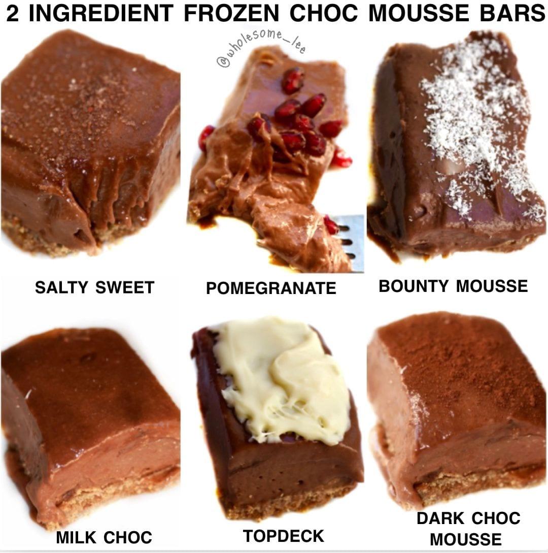 2 Ingredient Frozen Chocolate Mousse Bars