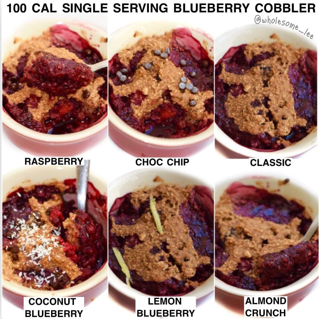 100 Calorie Single Serving Blueberry Cobbler