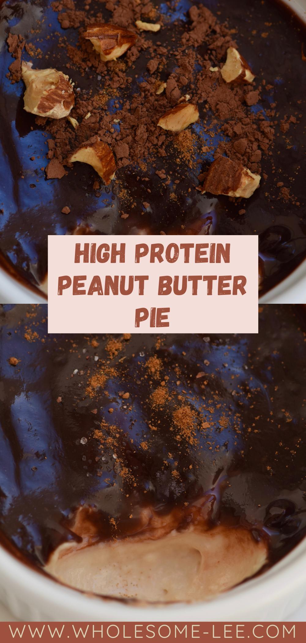 High protein peanut butter pie