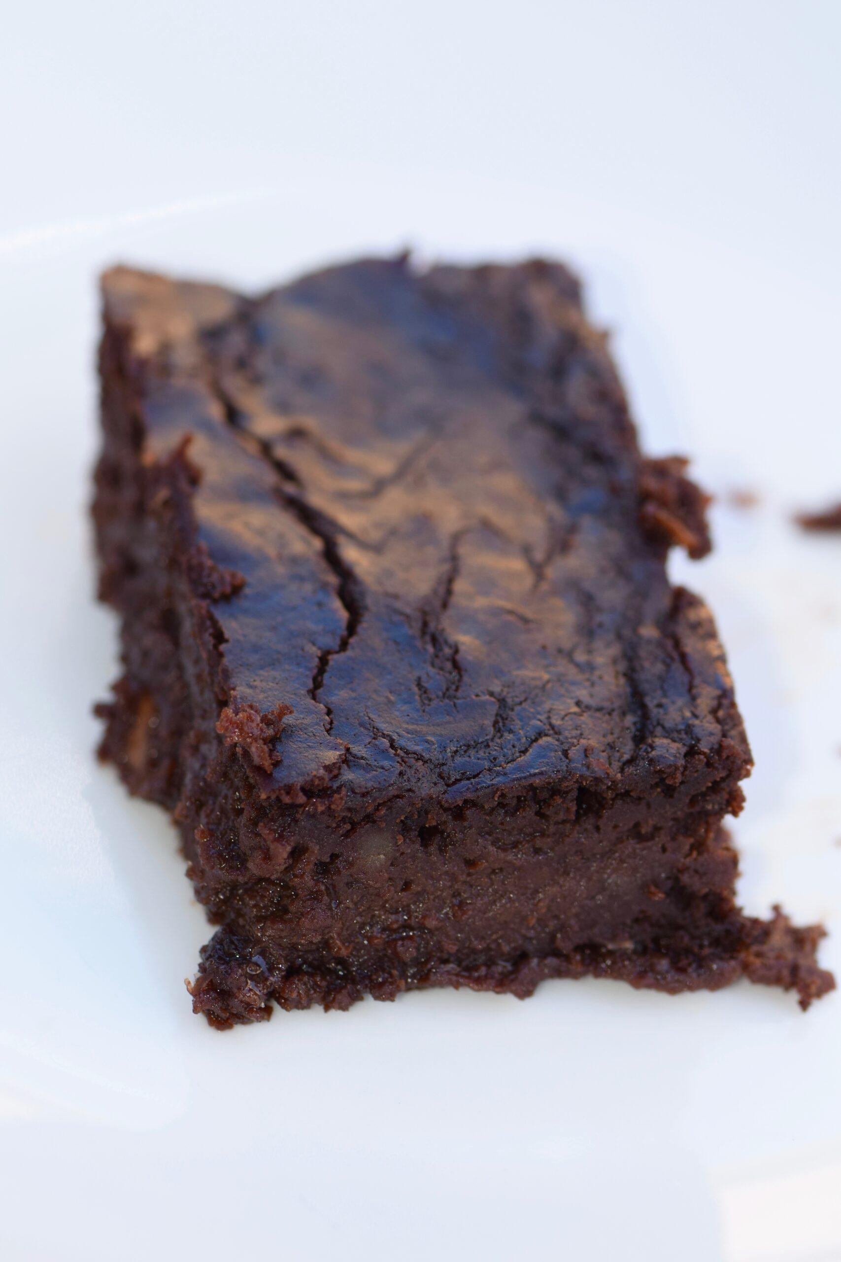 fudgy protein lentil brownies