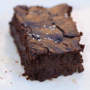 Lentil protein chocolate brownies