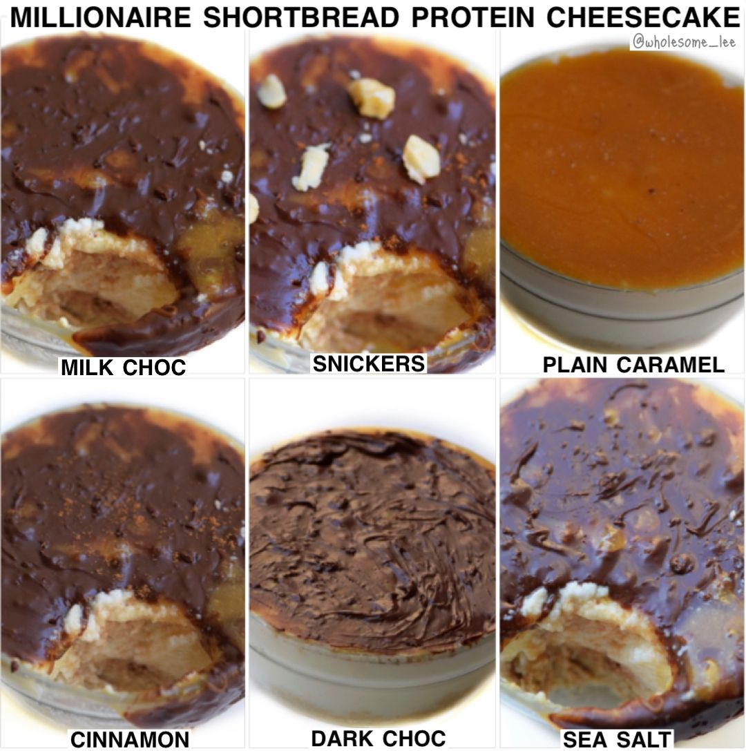 High Protein Millionaire Shortbread Cheesecake