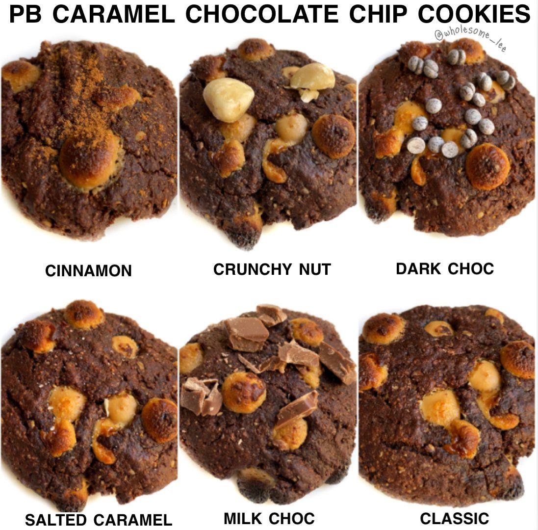Peanut Butter Caramel Chocolate Chip Cookies