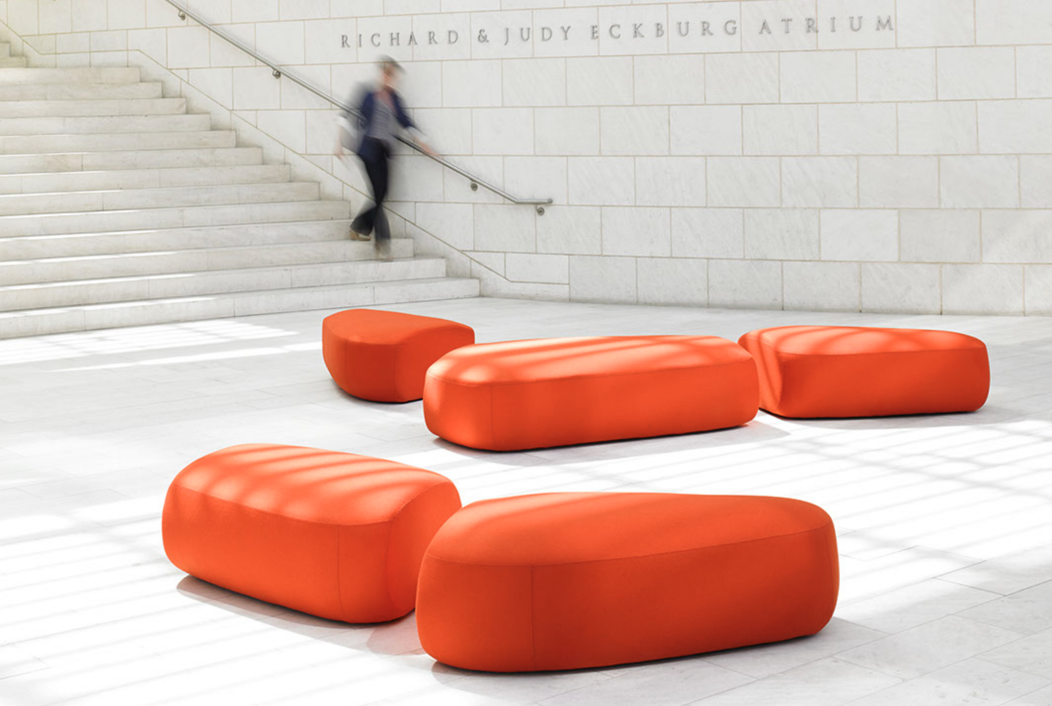 WO_Orange Benches-White Stairs