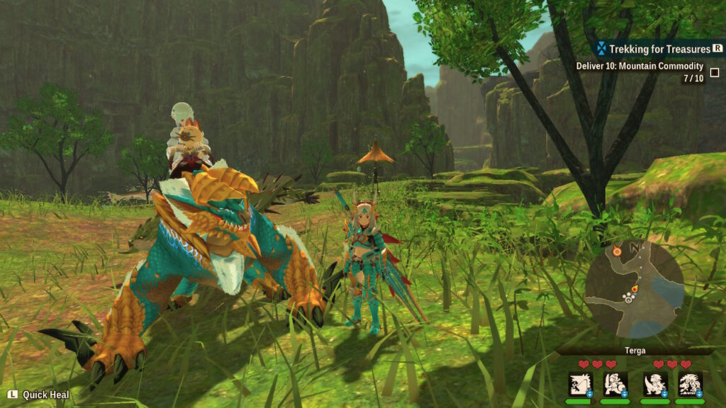 Monster Hunter Stories 2 gameplay image of a mount