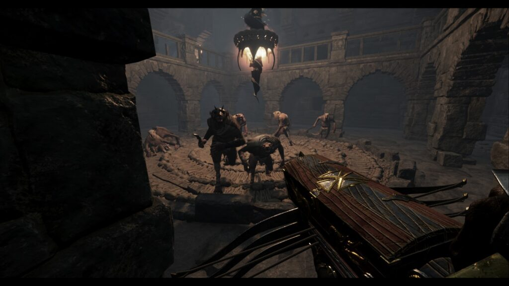 Warhammer: End Times gameplay image of an arena