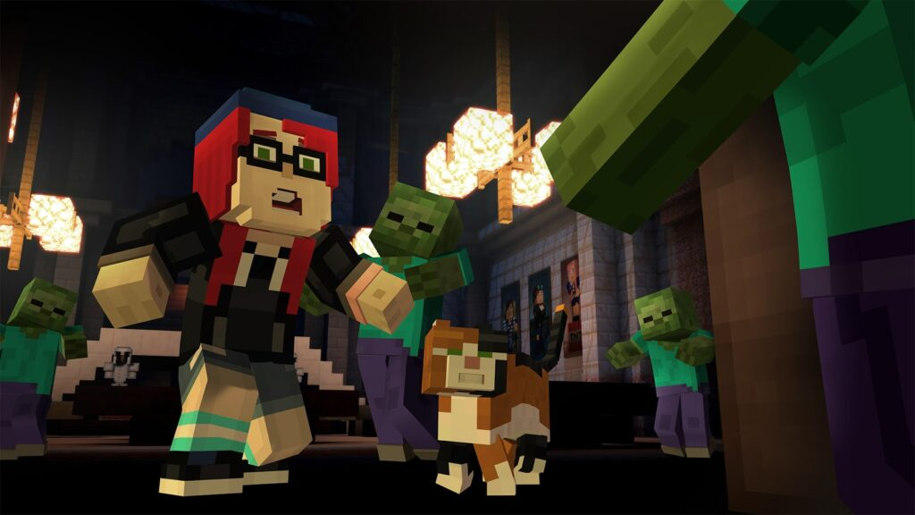 Minecraft: Story Mode - Episode 6: A Portal to Mystery gameplay image
