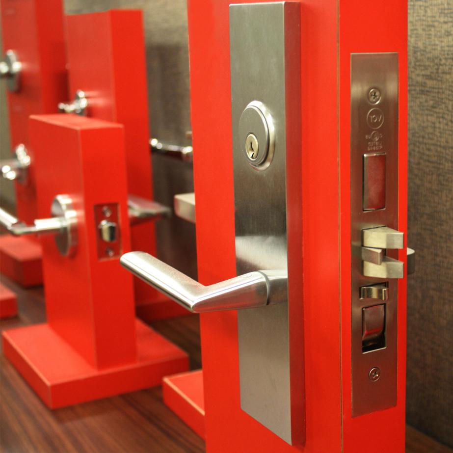 Modern lock and door handle