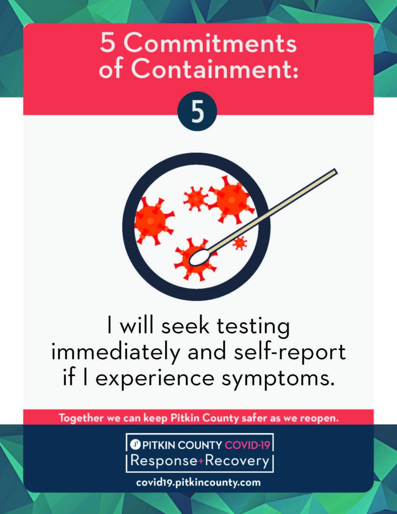 testing and self reporting flyer