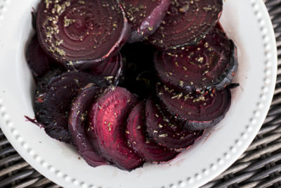 Roasted Beets with Balsamic Vinegar and Spices