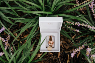 JORD Koa Wood Rose Gold Watch