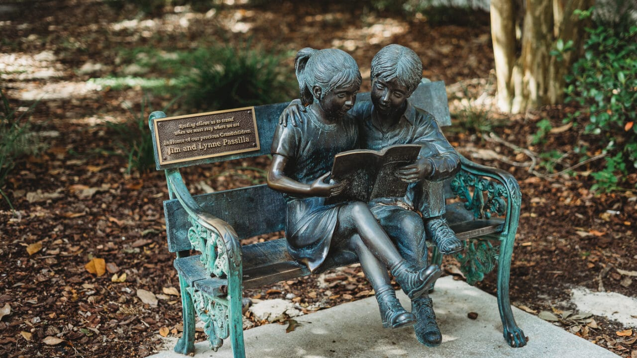 Windermere Library Statue