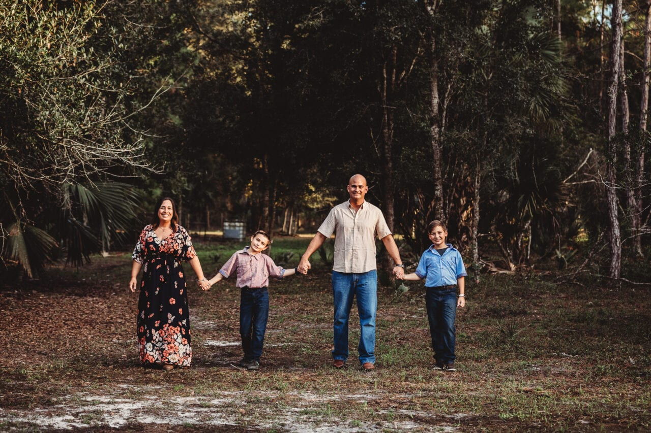 Family on their central florida farm