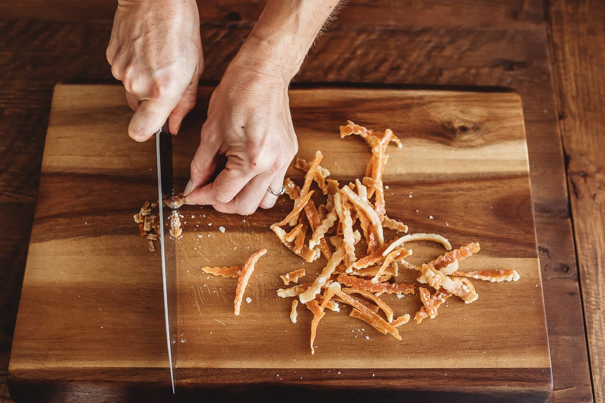 Cutting Candied Orange