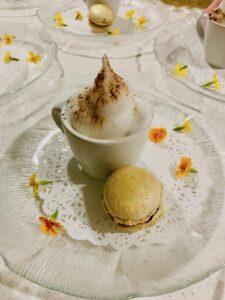 Cappuccino Semifreddo and Chocolate Macaroon