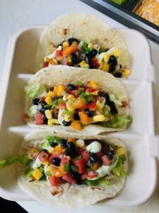 Fish Tacos with Rainbow Salsa