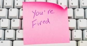 Keyboard Pink Slip You're Fired IT Jobs