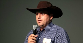 Ammon Bundy speaking at a forum hosted by the American Academy for Constitutional Education.