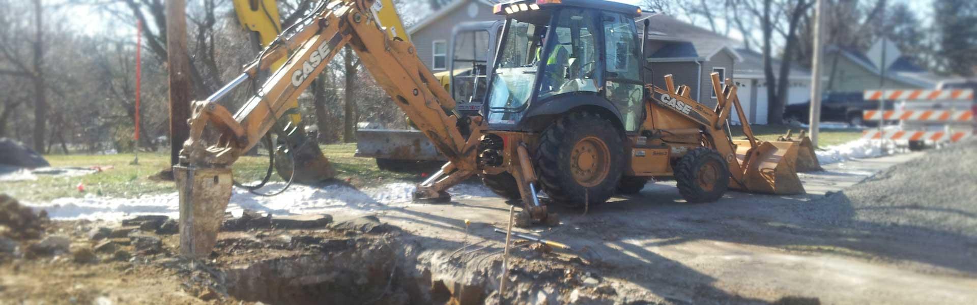 sewer and water excavation cedar rapids iowa city dubuque iowa