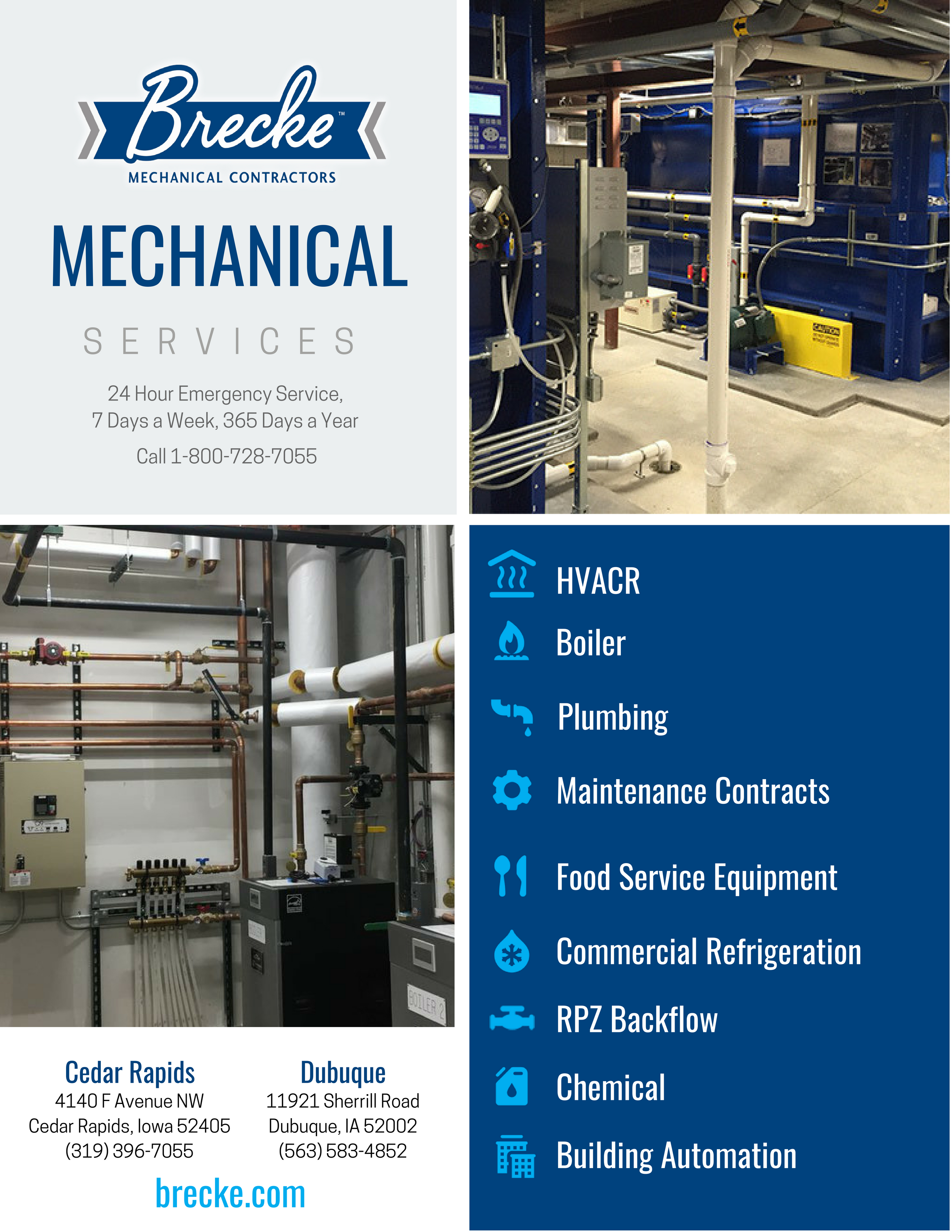 Mechanical Services Brecke Line Card 2550