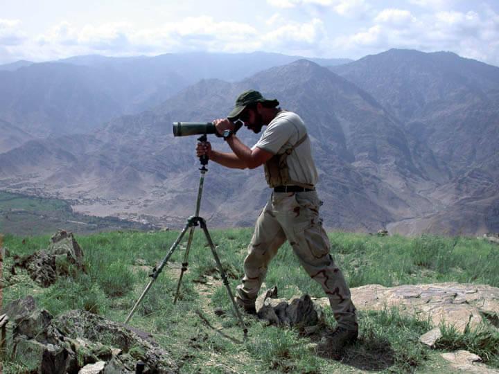 In the field using scope