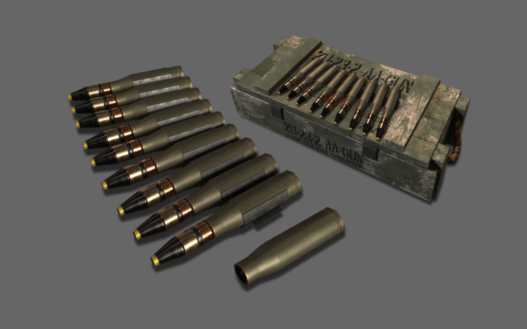 Textured ammunition model