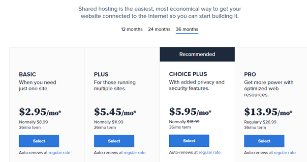 bluehost plus plans