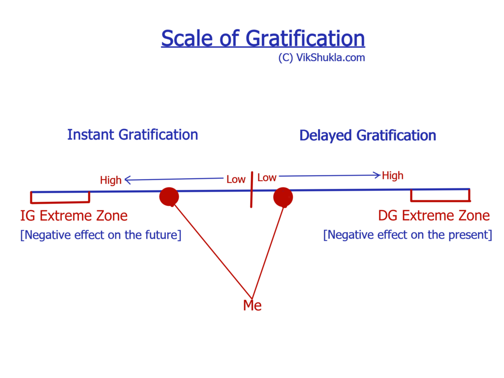 Instant gratification, delayed gratification and the art personal finance Vik Shukla