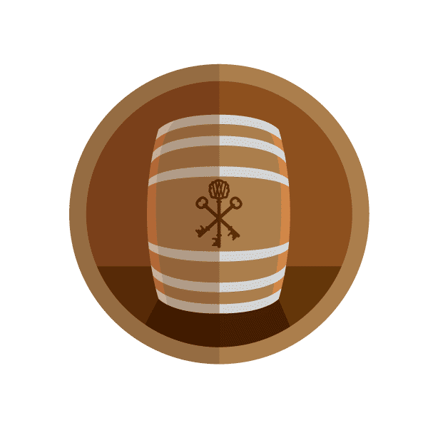 Barrel Fermented Badge!
