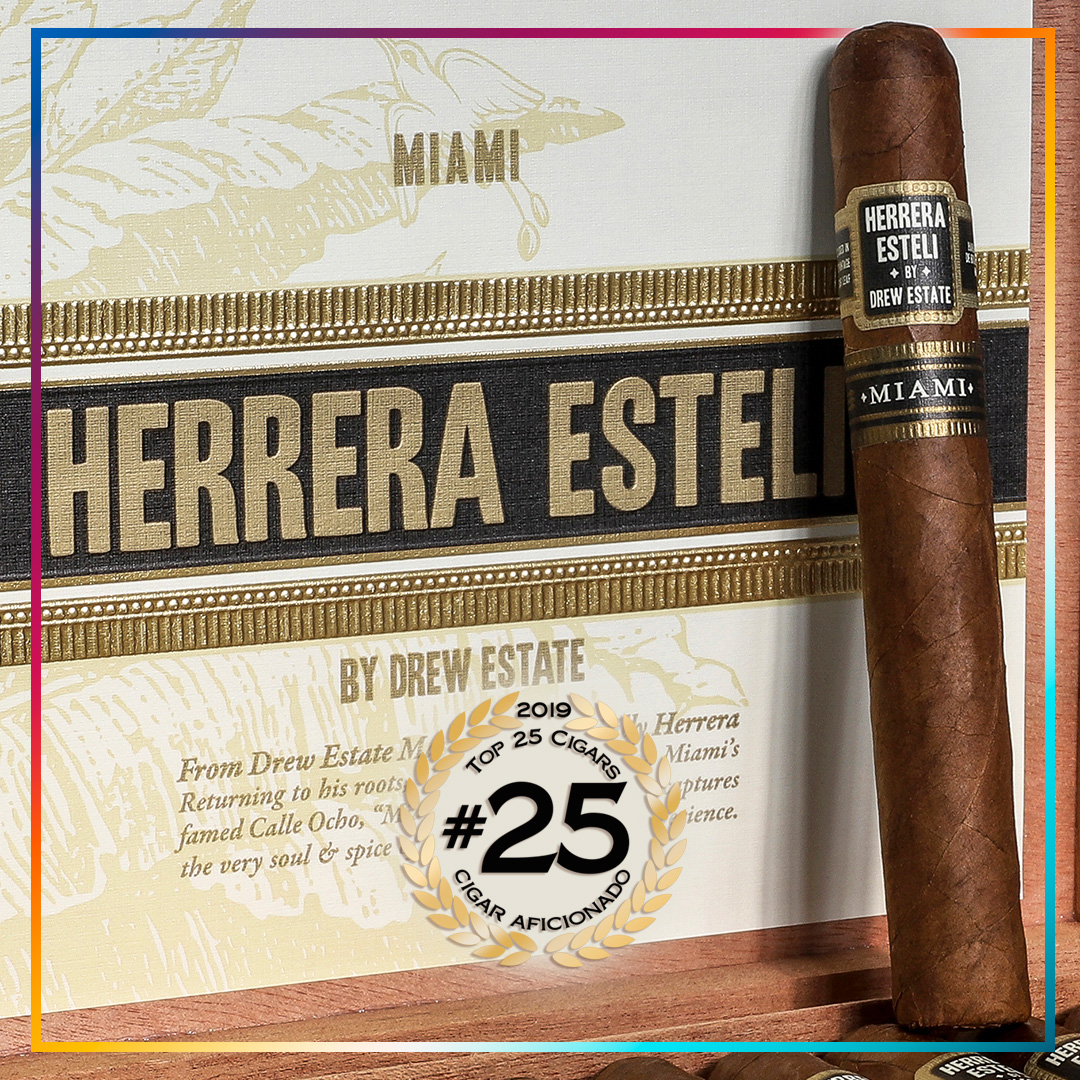 Drew Estate and Joya de Nicaragua Land On Cigar Aficionado Magazine's Top 25 Cigars of 2019!