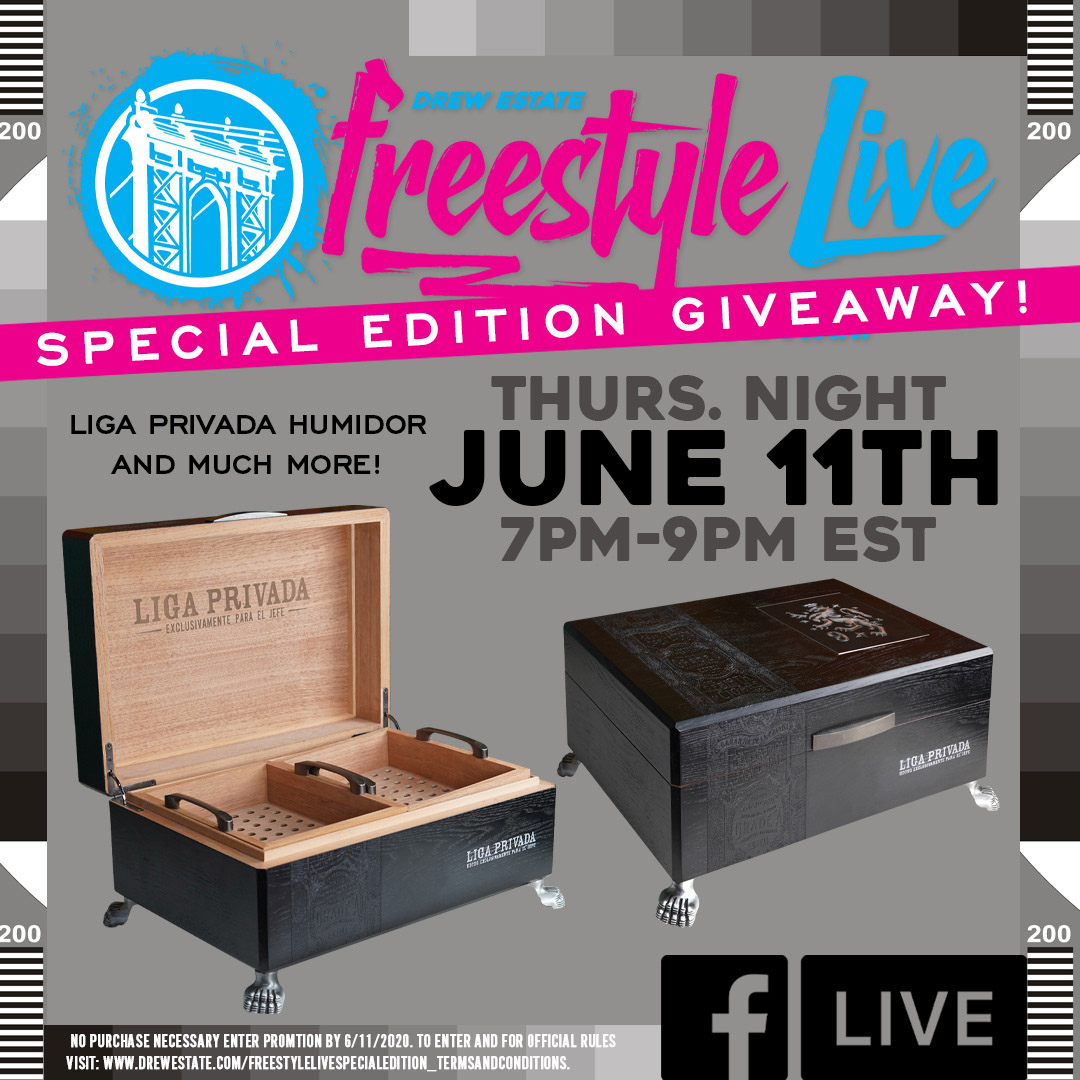 Freestyle Live: Special Edition TONIGHT with MEGA Giveaways on Drew Estate Facebook Live!