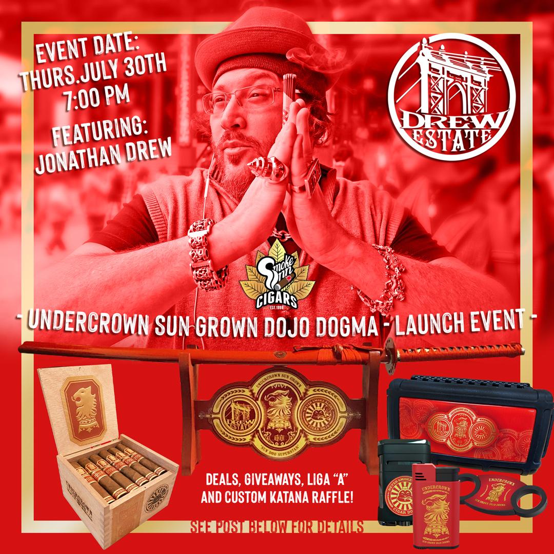 TONIGHT 7pm EST! Undercrown Dojo Dogma Sun Grown Virtual Launch with Smoke Inn