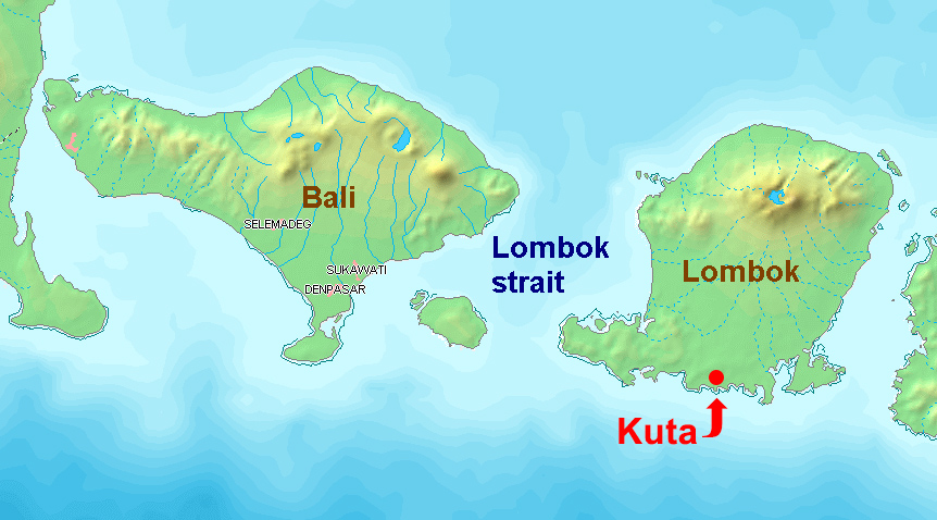 Lombok-Bali-Map
