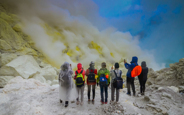 Kawah Ijen Volcano Indonesia tourism destinations