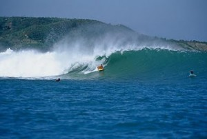 Surfing Lombok Inside Gerupuk Body Boarder