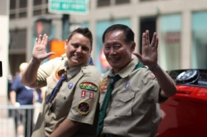 These scouts are not intimidated by the Boob Badge requirements.