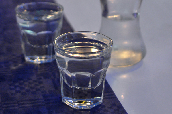 Rakija is a welcome drink offered to guests entering someone's home.