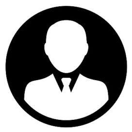 Profile icon vector male user person avatar in flat color glyph pictogram illustration