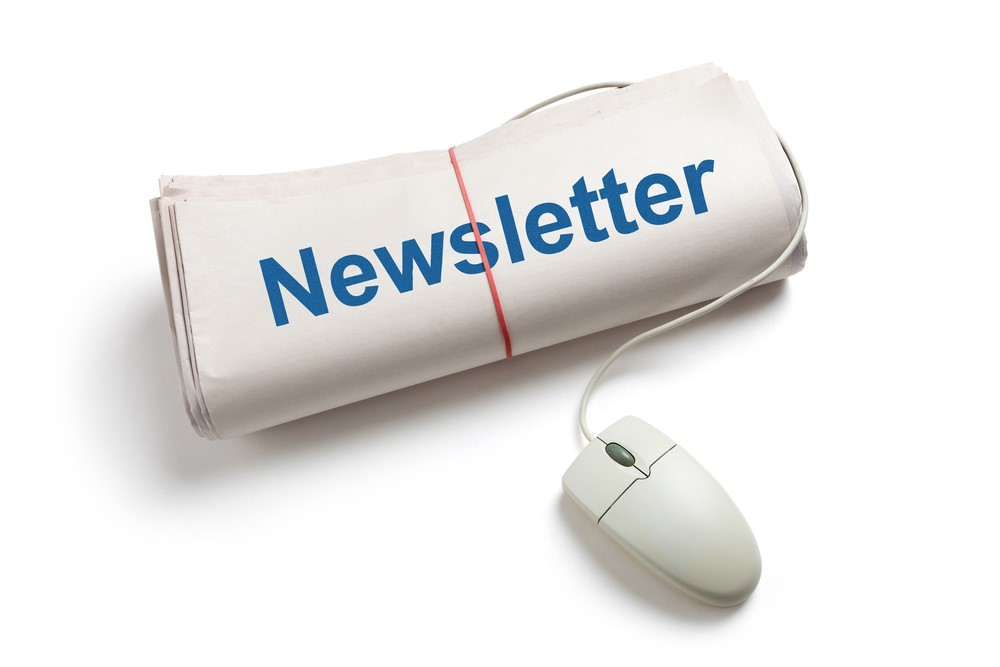 newsletter and mouse
