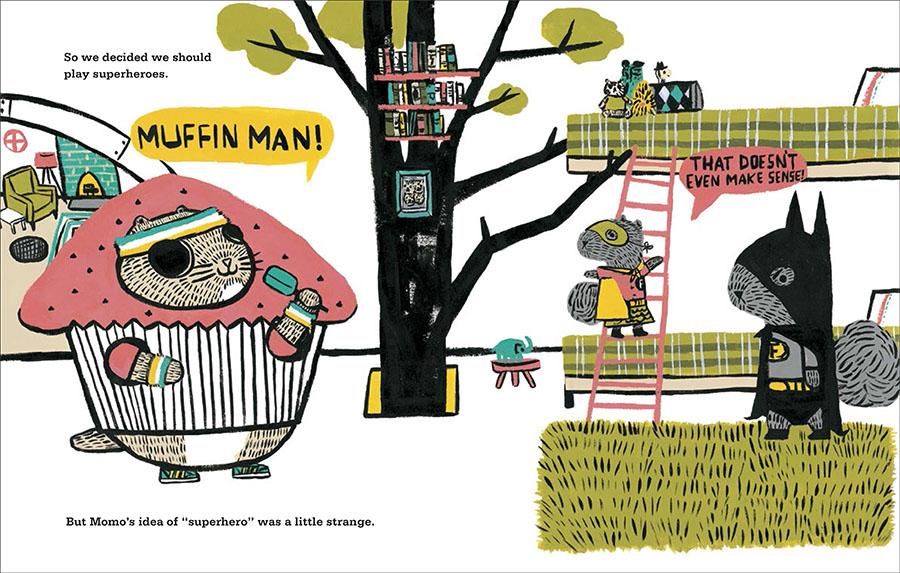 Momo as Muffin Man