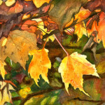 Heather Torres Art | Autumn | watercolor leaves, watercolor painting, fall watercolor painting, fall leaves, autumn painting, fall painting
