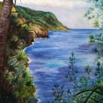 Heather Torres Art | Kauai Coast | watercolor painting of coastal landscape in Kauai Hawaii