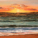 Heather Torres Art | Perspective | acrylic painting of colorful sunset