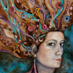 Heather Torres Art | Sarena | watercolor painting of portrait of woman with wild hair