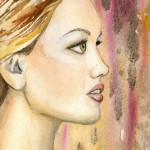 Heather Torres Art | Look | watercolor painting of woman profile