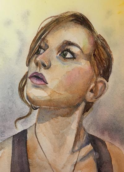 watercolor portrait, woman watercolor portrait, watercolor portrait tutorial, watercolor portrait time-lapse
